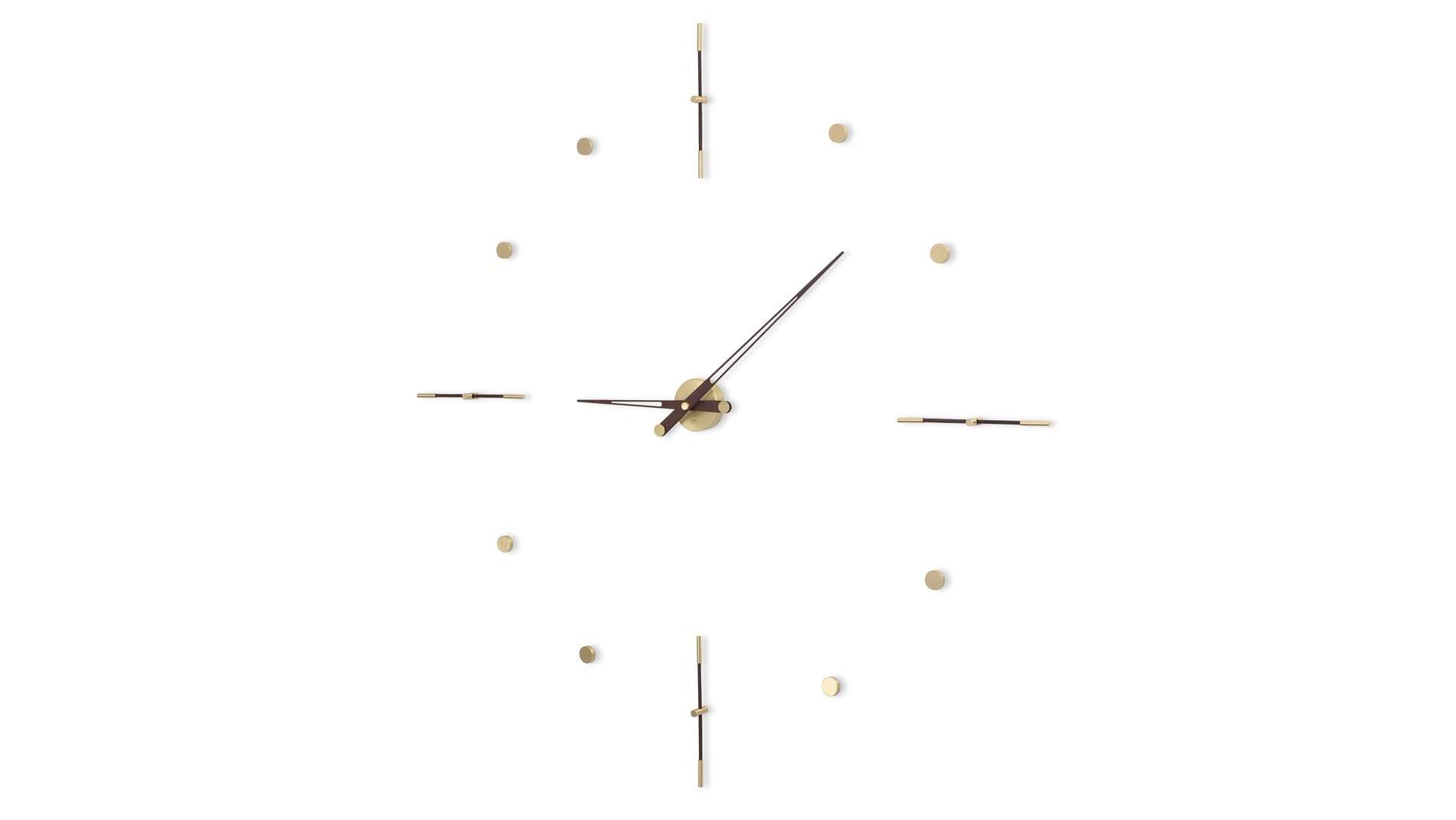 Часы Nomon Mixto Gold N 155, полированная латунь/венге, d=155cm.