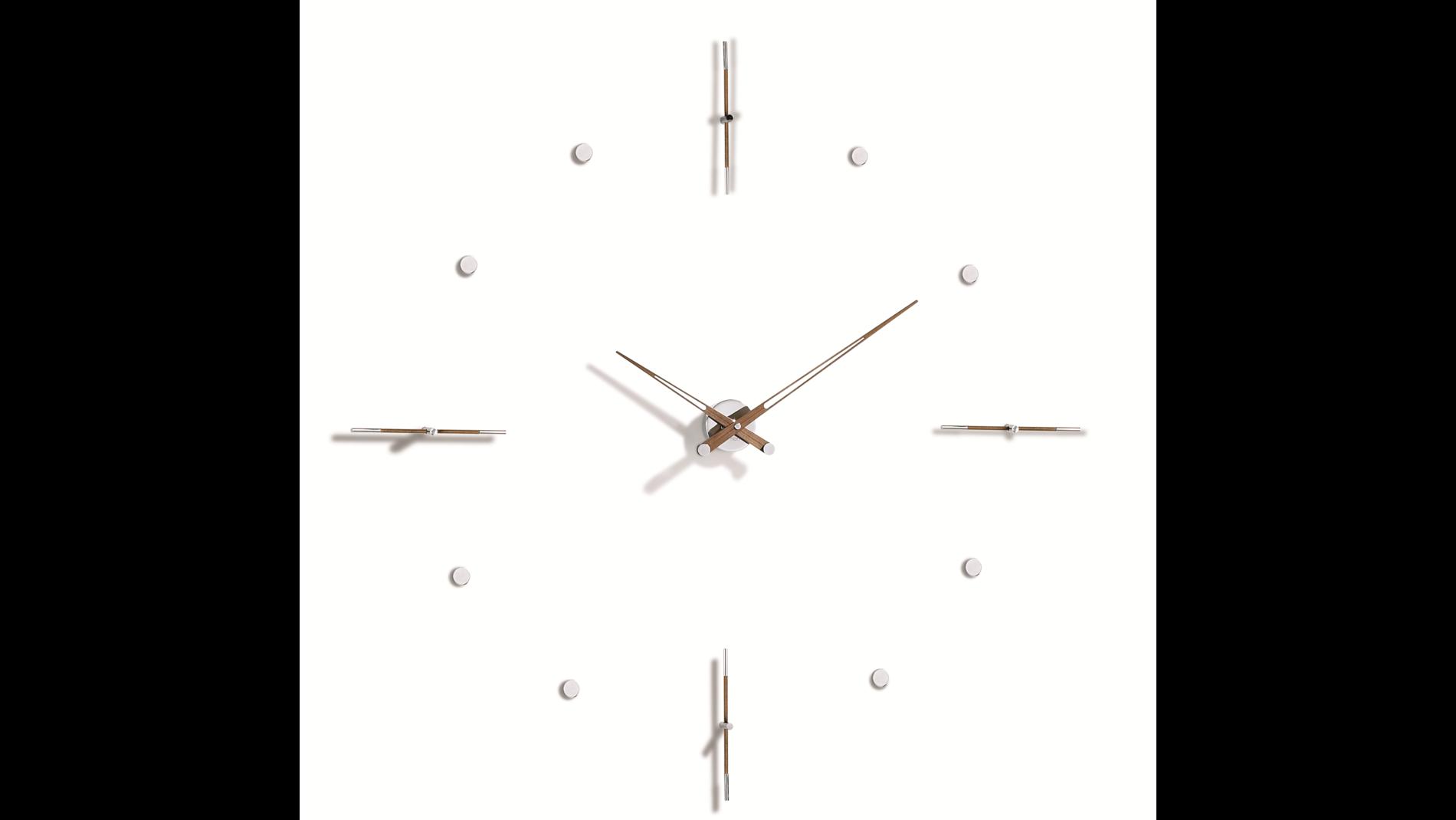 Часы Nomon MIXTO N 155 WALNUT/CHROME, d=155см