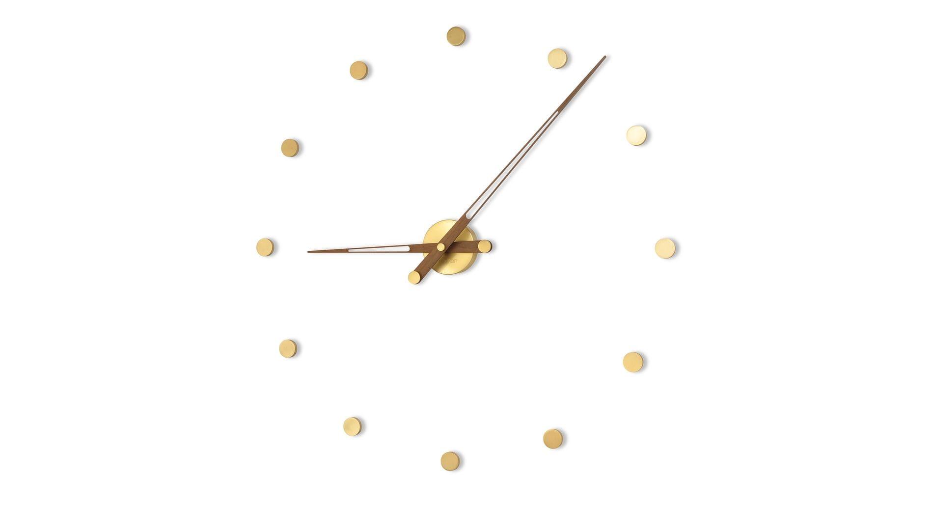 Часы Nomon Rodon 12 Gold N, walnut, d=70 см