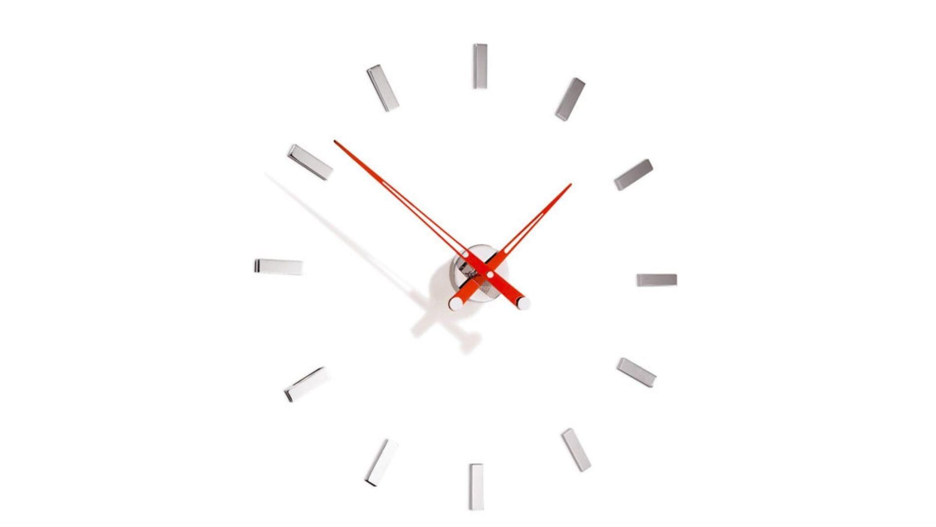 Часы Nomon Tacon 12i RED, хром.сталь, стрелки красные, d=74см