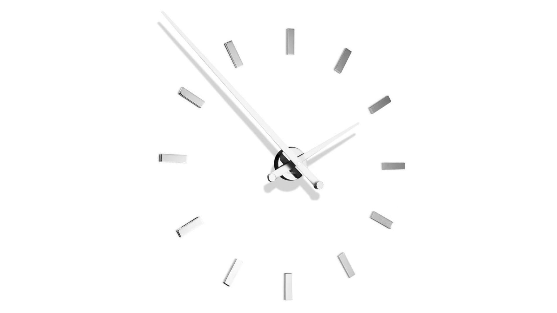 Часы Nomon Tacon 12i WHITE, хром.сталь, d=74см