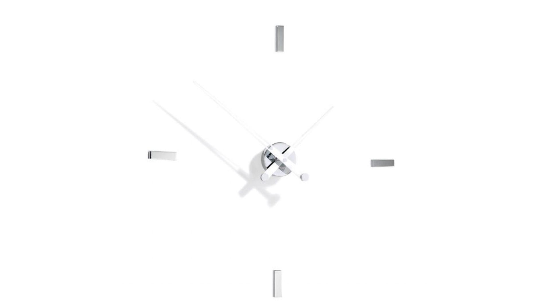 Часы Nomon Tacon 4i WHITE, хром.сталь, d=74см