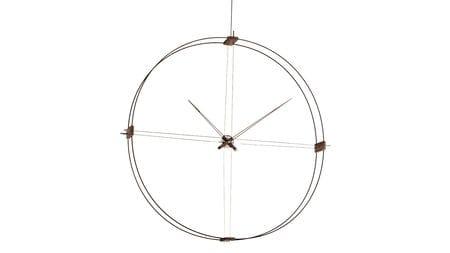 Часы Nomon Delmori, black/walnut, d=140cm