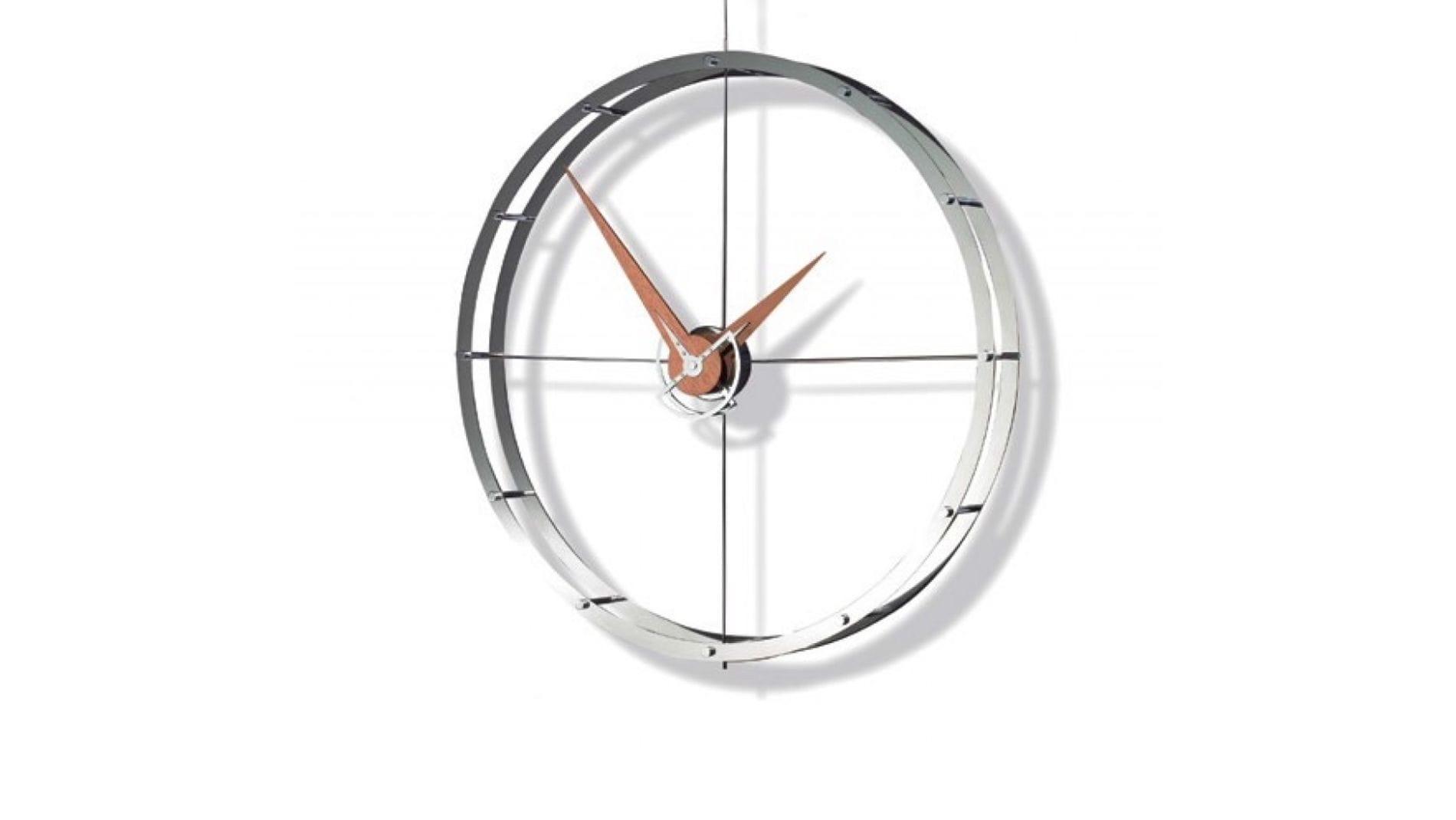 Часы Nomon DOBLE O i, CHROME/WALNUT, 70CM