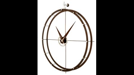 Часы Nomon DOBLE O N, дерево calabo, d=70см
