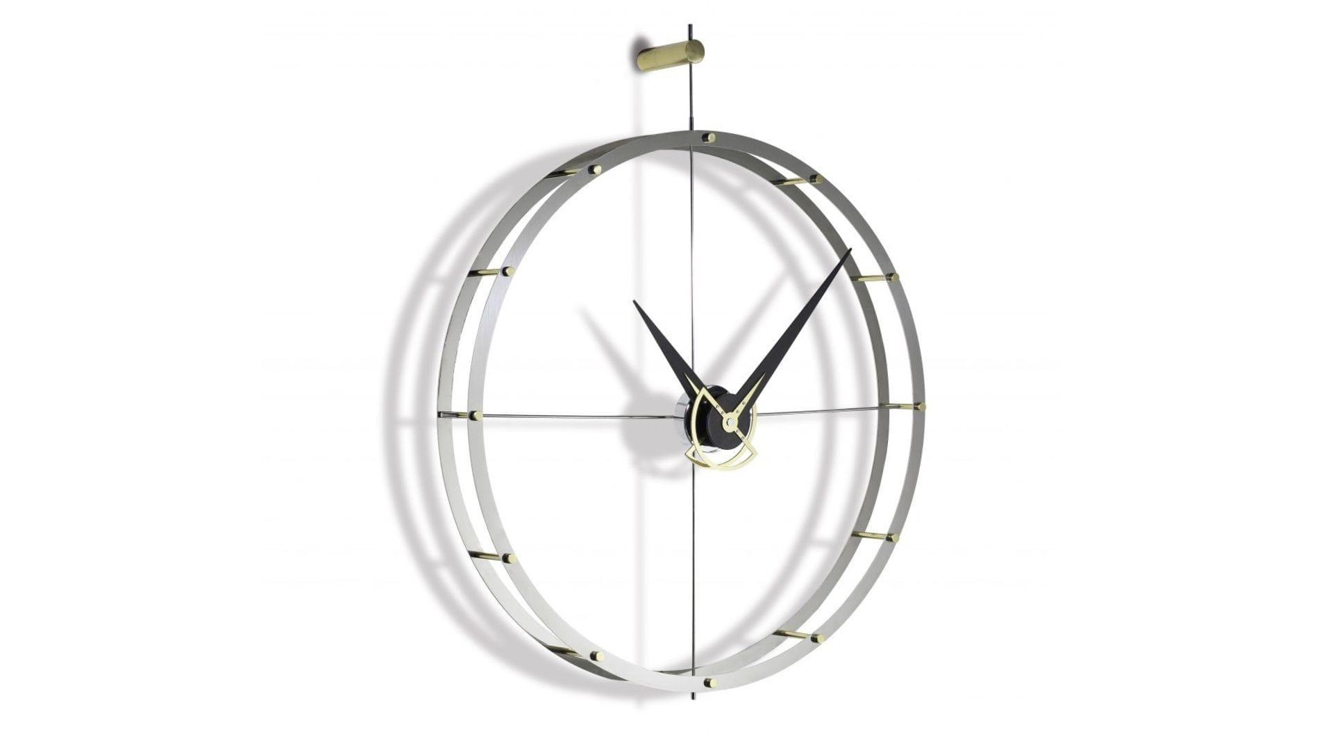 Часы Nomon DOBLE O STEEL.GOLD/WENGE, 70CM