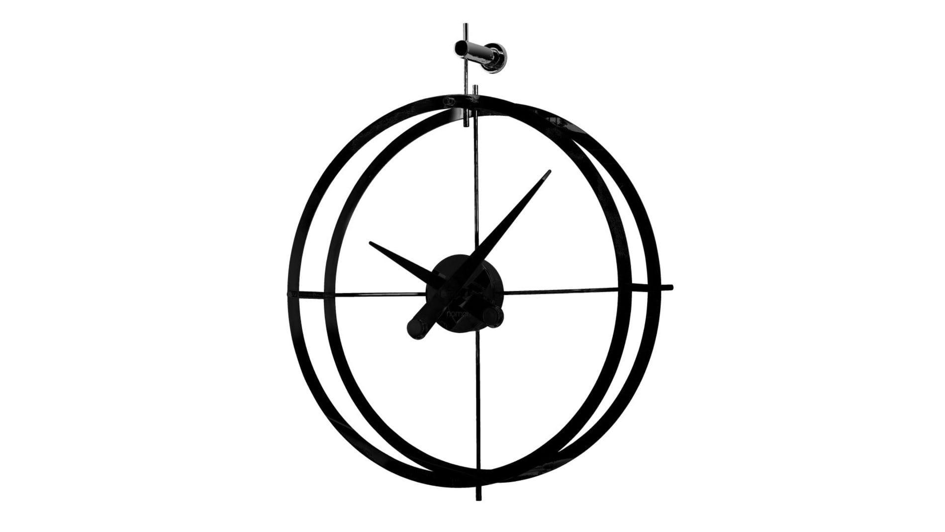 Часы Nomon 2 PUNTOS LOFT (Dos Puntos all black), d=55см