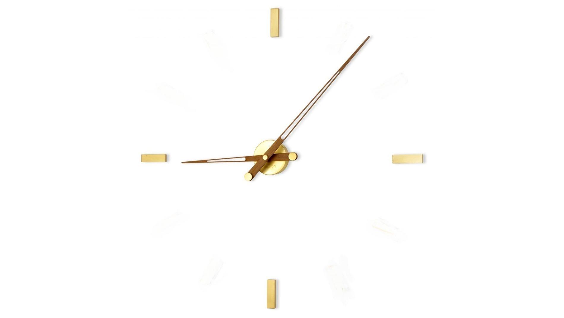 Часы Nomon Tacon 4 Gold N, walnut, d=105см