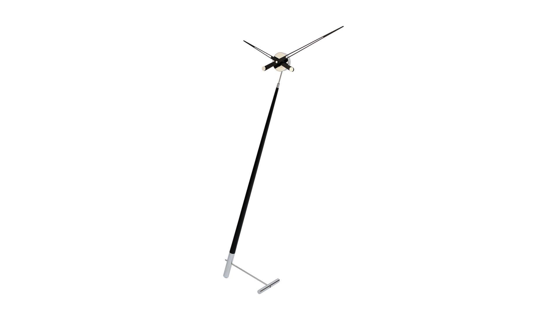 Часы Nomon Pisa L BLACK, хромированная сталь/черный лак, d=73 см, h=150cm