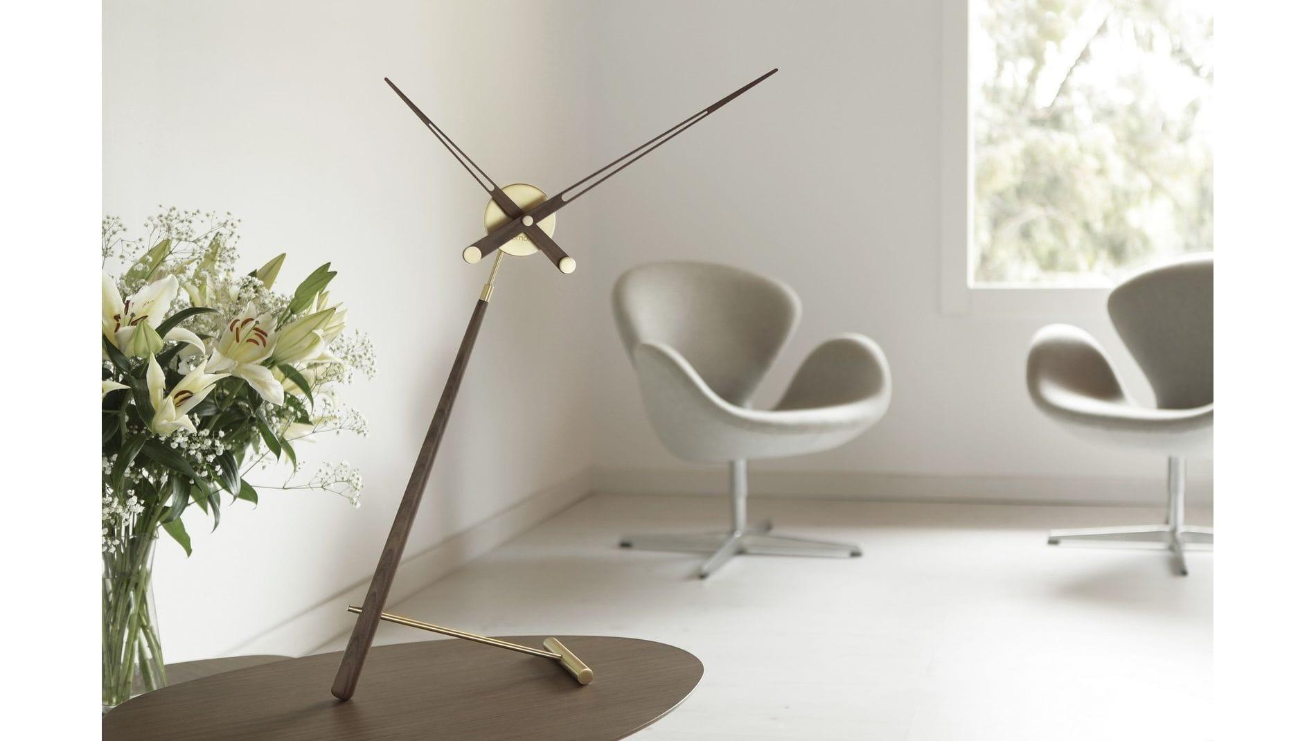 Часы Nomon Puntero Gold, латунь/дерево, D=74 см.