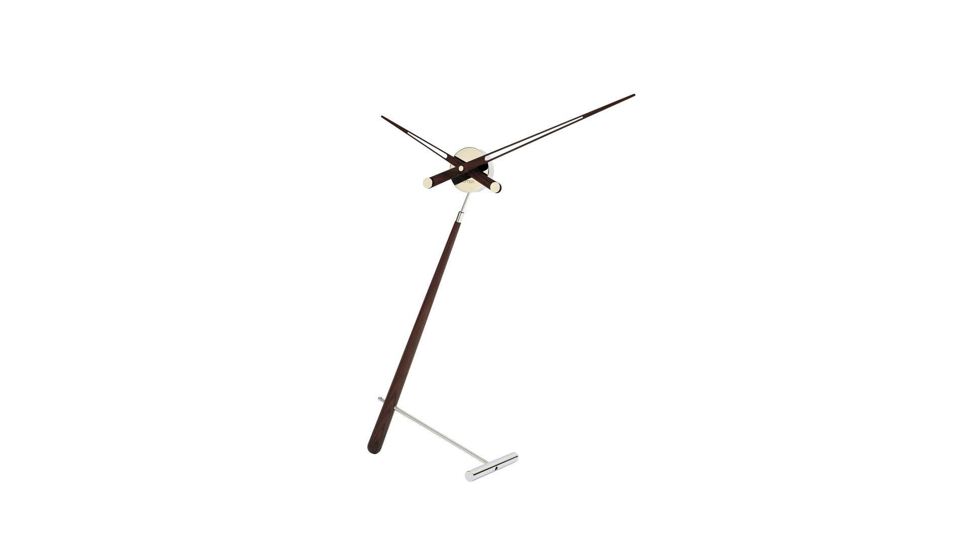 """Часы Nomon Puntero N WENGE, хром/дерево """"венге"""", D=74 см."""