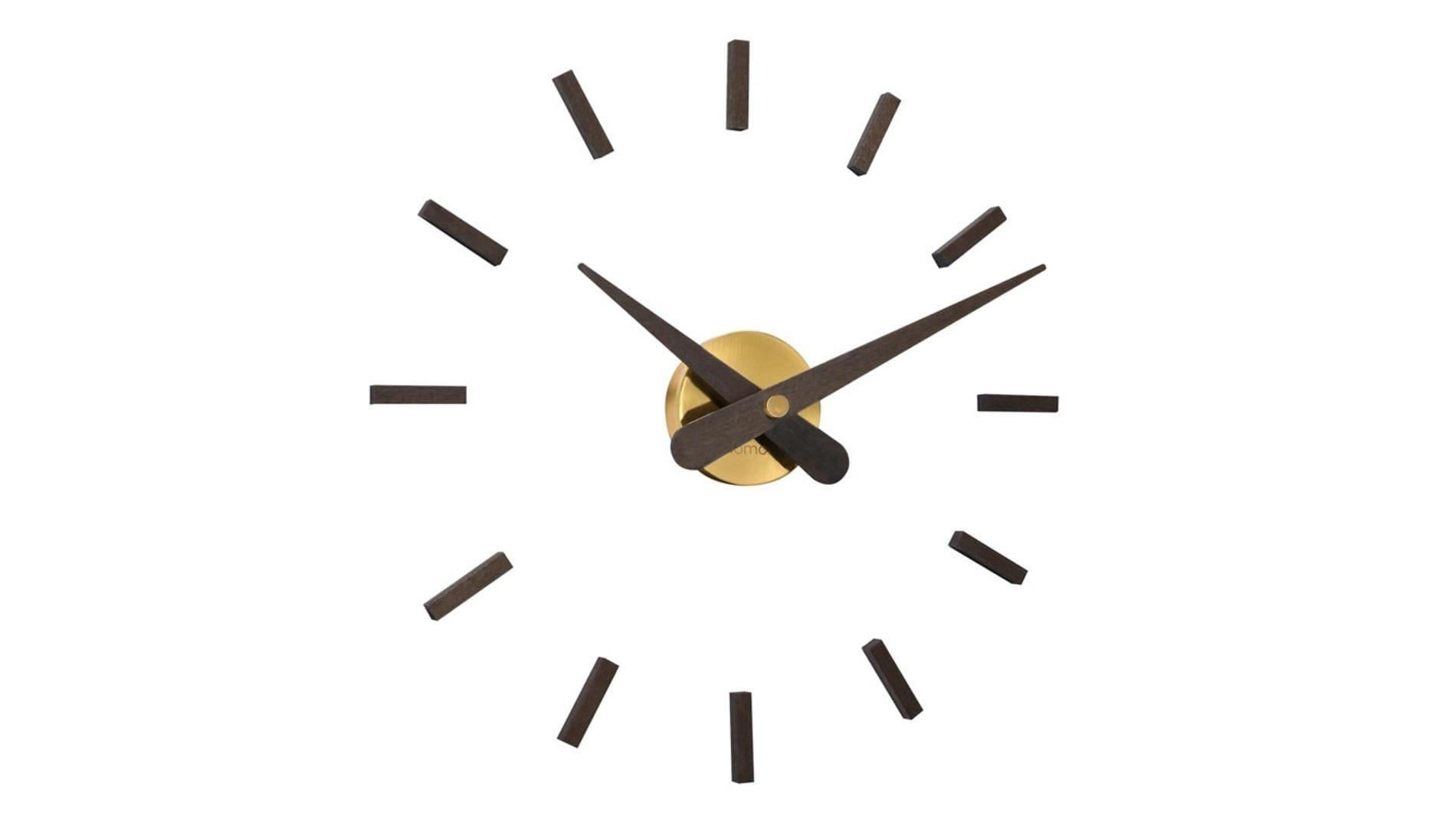 Часы Nomon SUNSET GOLD WENGE, d=50см