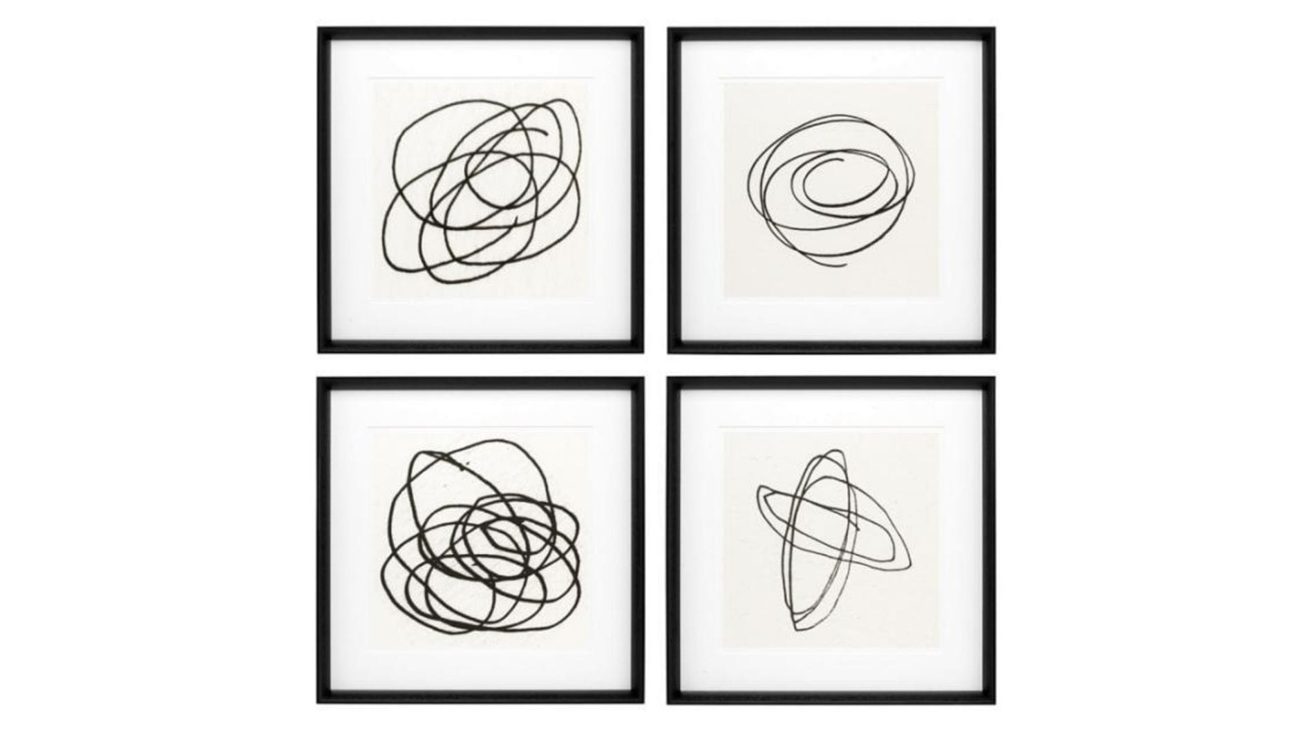 Постеры Black & White Collection набор 4 шт.