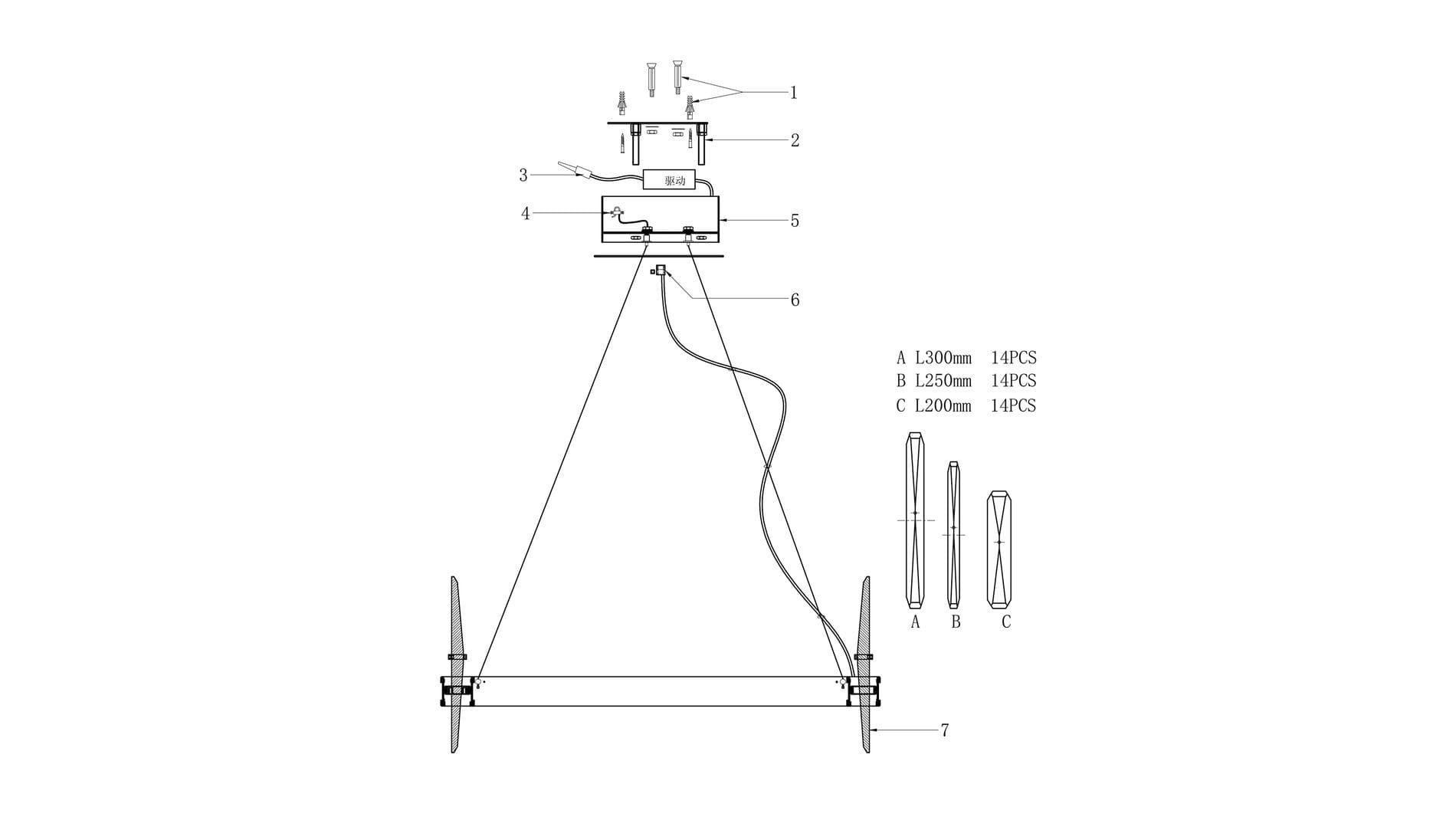 Подвесной светильник Ice Round диаметр 75
