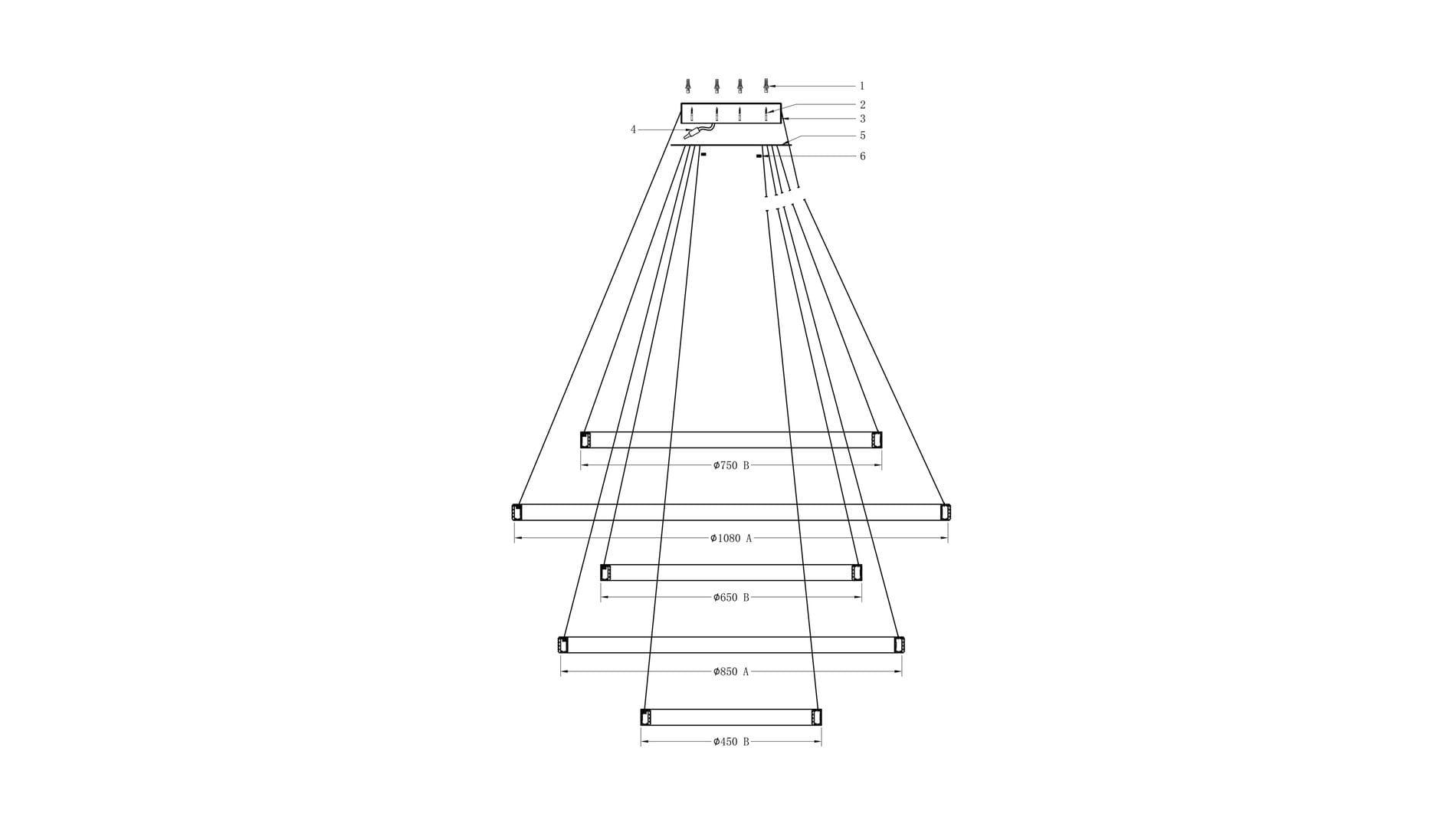 Подвесной светильник Tangle 5 ламп