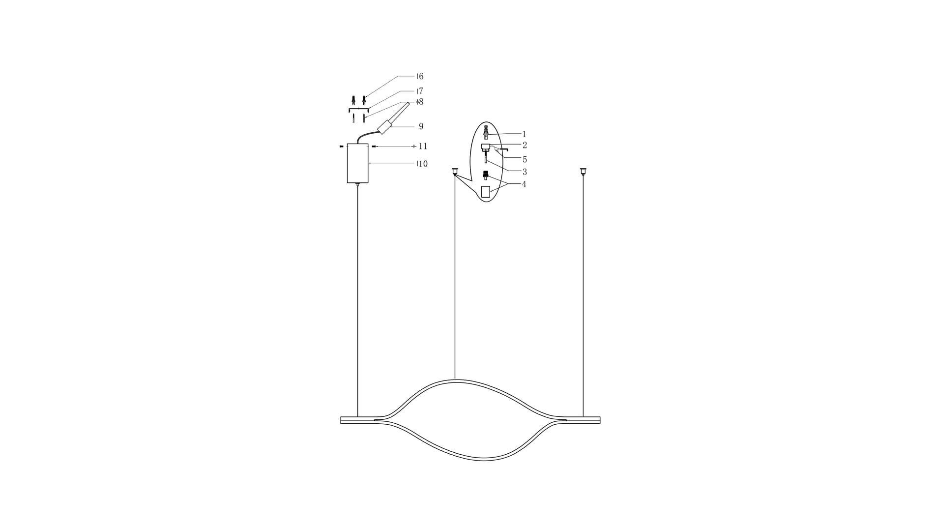 Подвесной светильник Ojo Forma 1