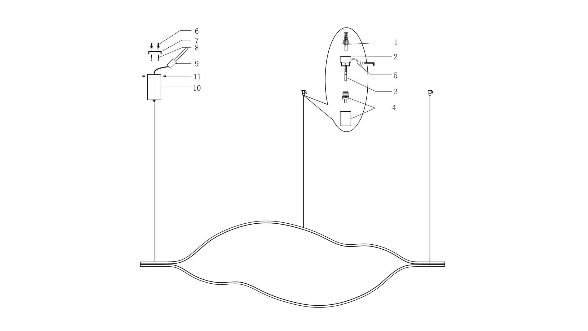Подвесной светильник Ojo Forma 2