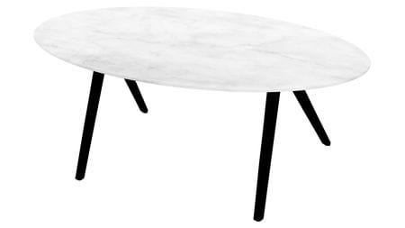 Стол обеденный Oval белый