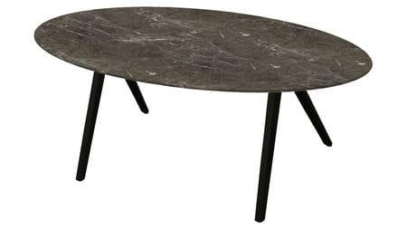 Стол обеденный Oval коричневый