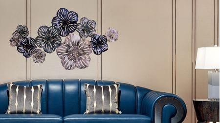 Панно для декорирования стен из металла| цветы fabulous 150*75см.