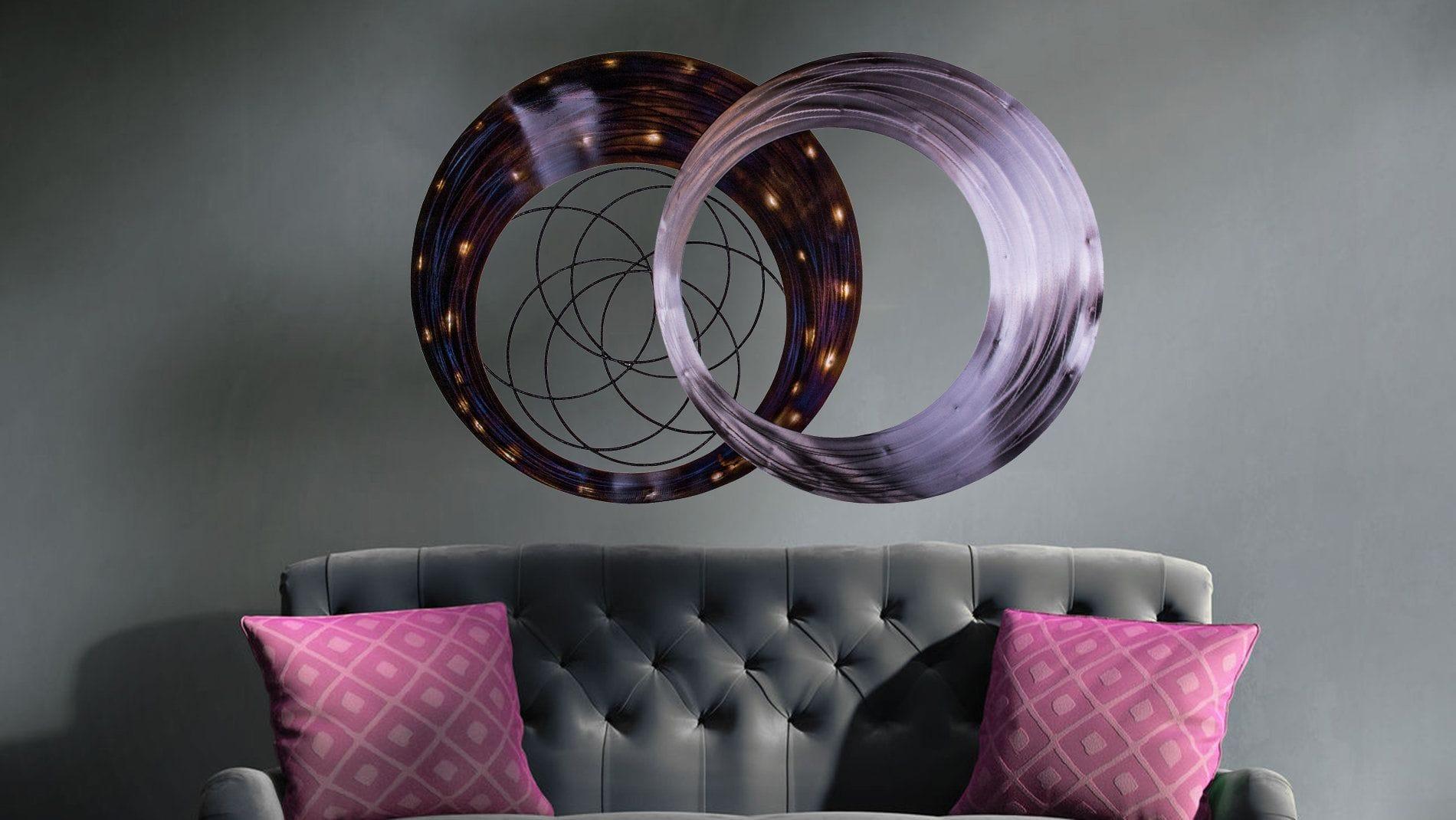 """Панно для декорирования стен из металла """"constellation"""" 120*80см."""