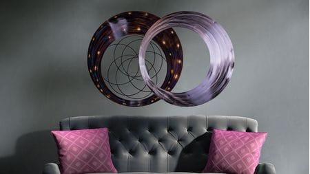 Панно для декорирования стен из металла constellation 120х80см