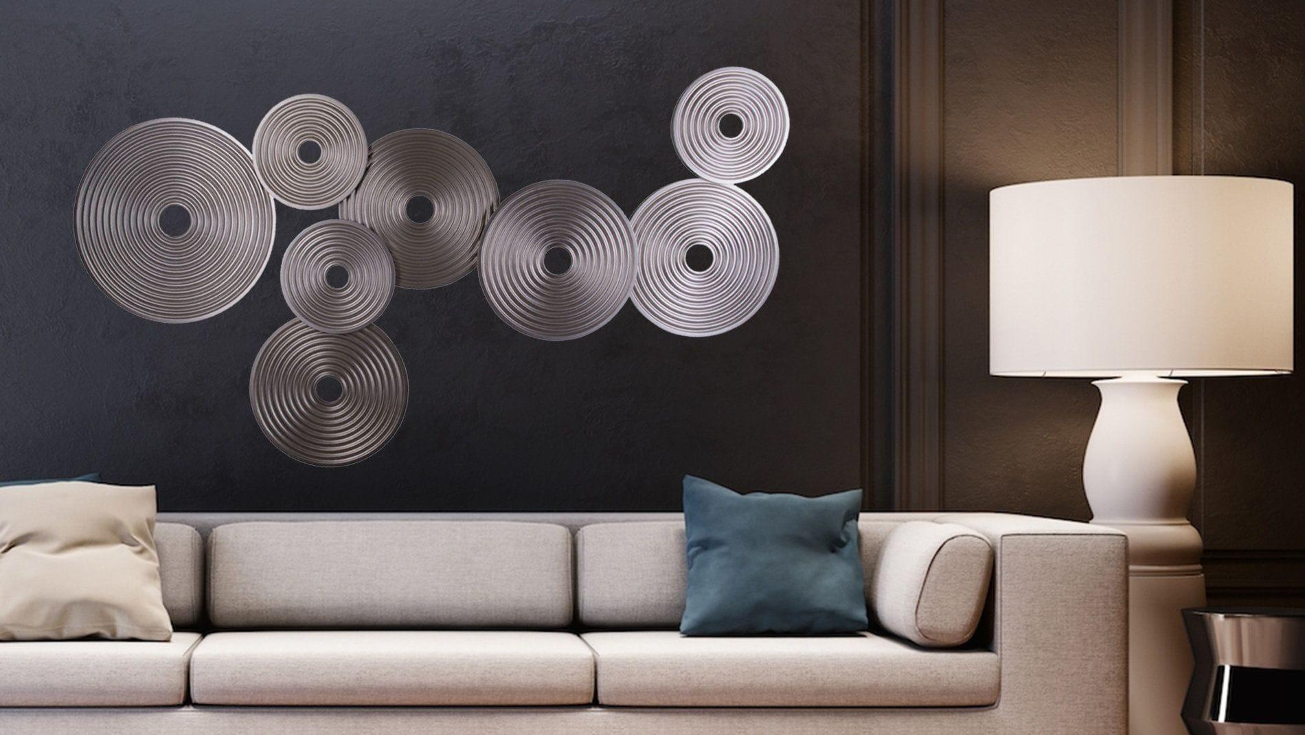 "Панно из дерева на стену ""silver select"" 160*85 см."