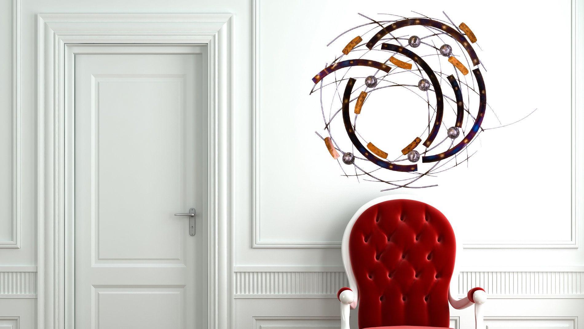 "Панно для декорирования стен из металла ""tips planets"""