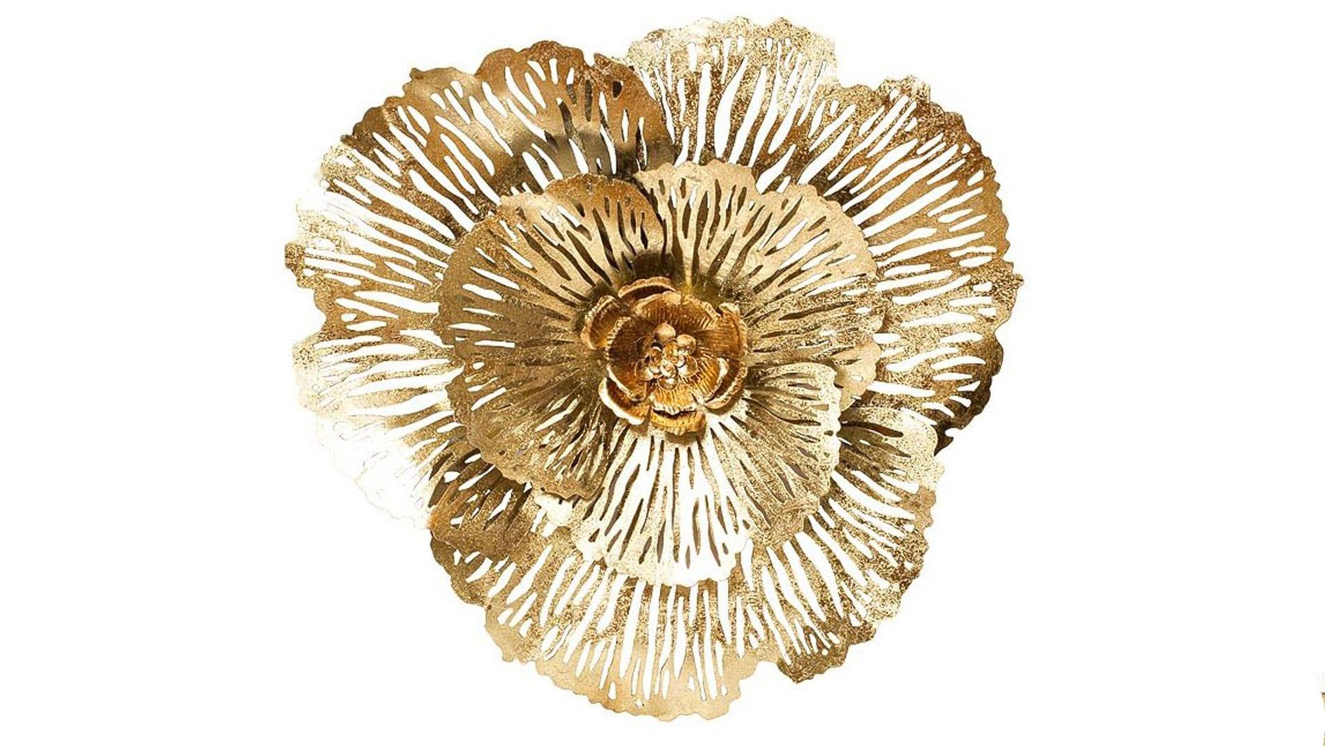 """Настенное панно из металла  """"золотые цветы"""""""