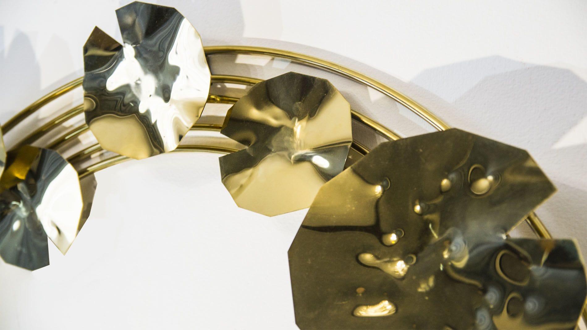 Панно на стену Golden circle 120х120см золотое