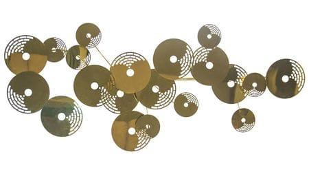 Панно из металла golden circles 175*110 см.