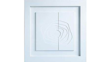 Панно-картина на стену White kvadro 95х95см белый