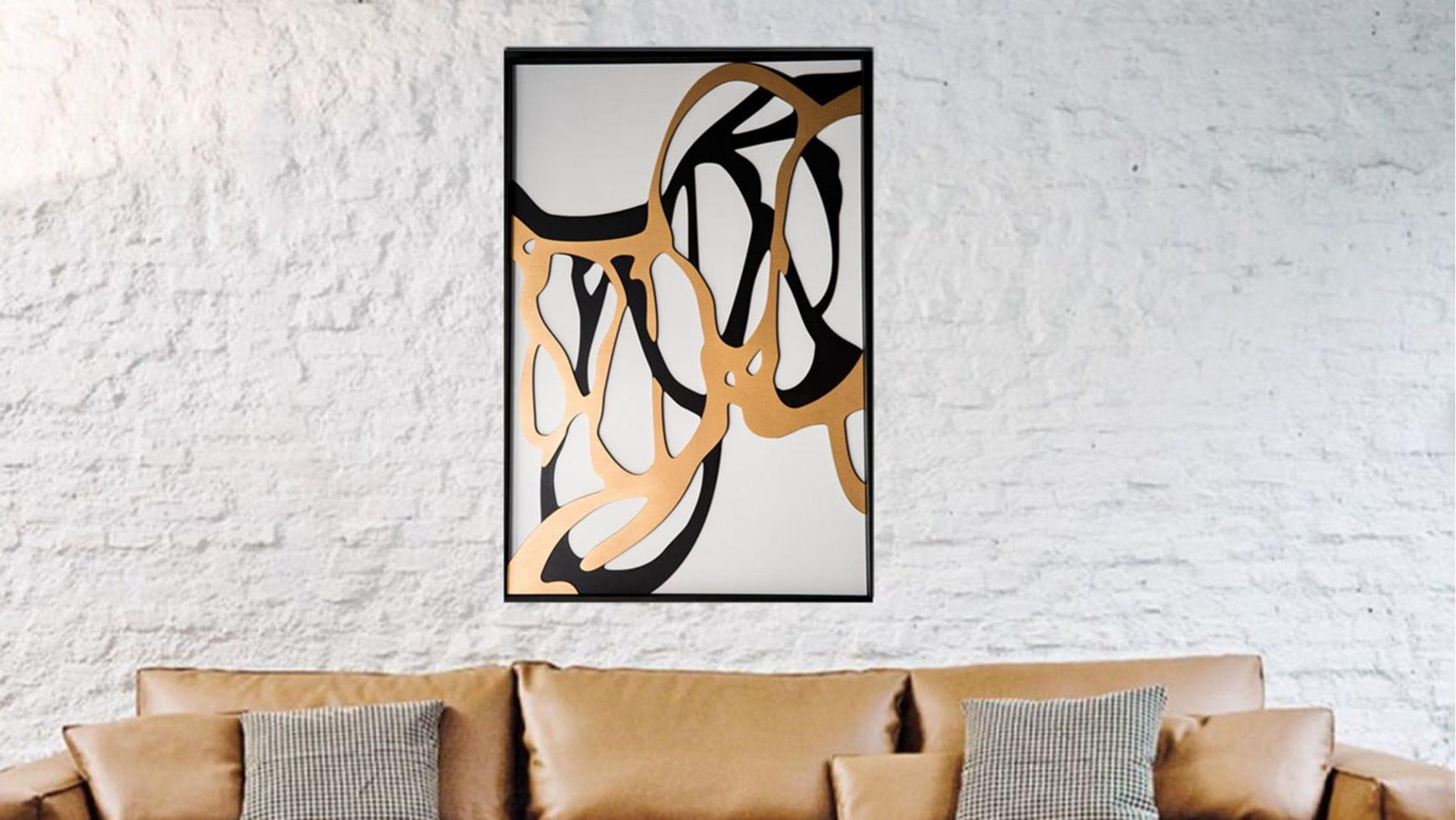 """Панно-картина на стену """"Woodcut"""" 92*62 см."""