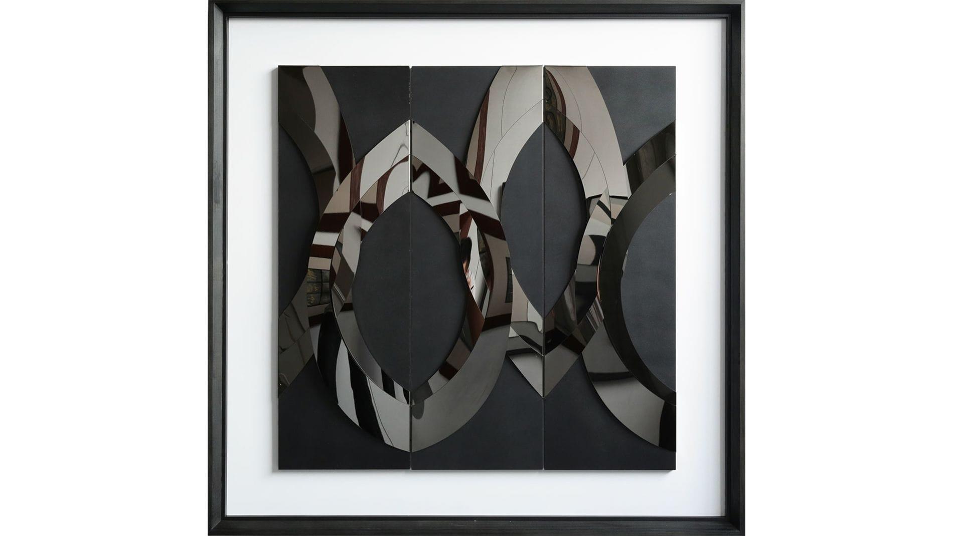 """Панно-картина на стену """"MOONRISE BLACK"""""""