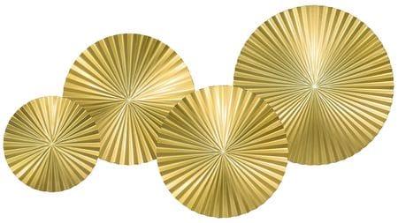 Панно на стену Gold - 4 115х70 см. золотое