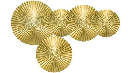 Панно на стену Gold - 5 130х85 см золотое