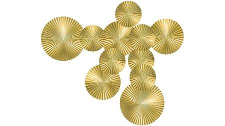 Панно на стену Gold - 11 170х120 см золотое