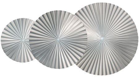 Панно на стену silver-3 105х50 см серебряное