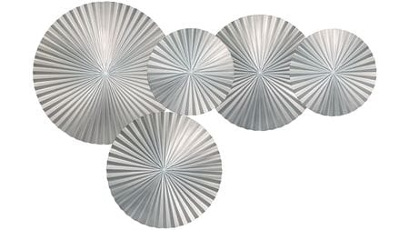 Панно настенное  silver-5 130х85 см серебряное