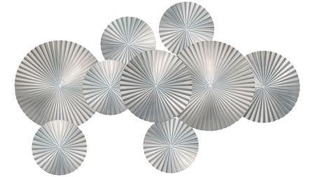 Панно из дерева silver-9 160х90 см серебряное