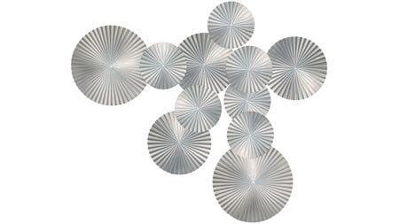 Панно объёмное silver-11 170х120 см серебряное