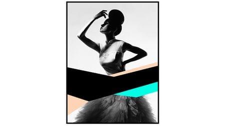 Постер для интерьера Танцовщица 80х80см