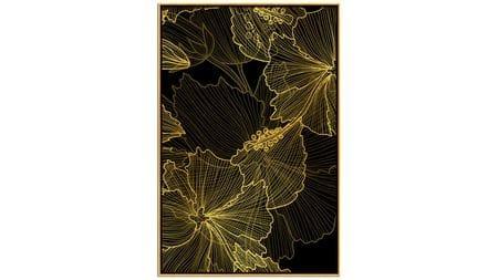 Постер на стену золотые нити абстракции 60х80 см
