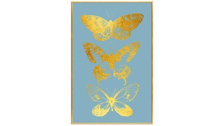 Постер на стену Золотые бабочки-2 60х80см