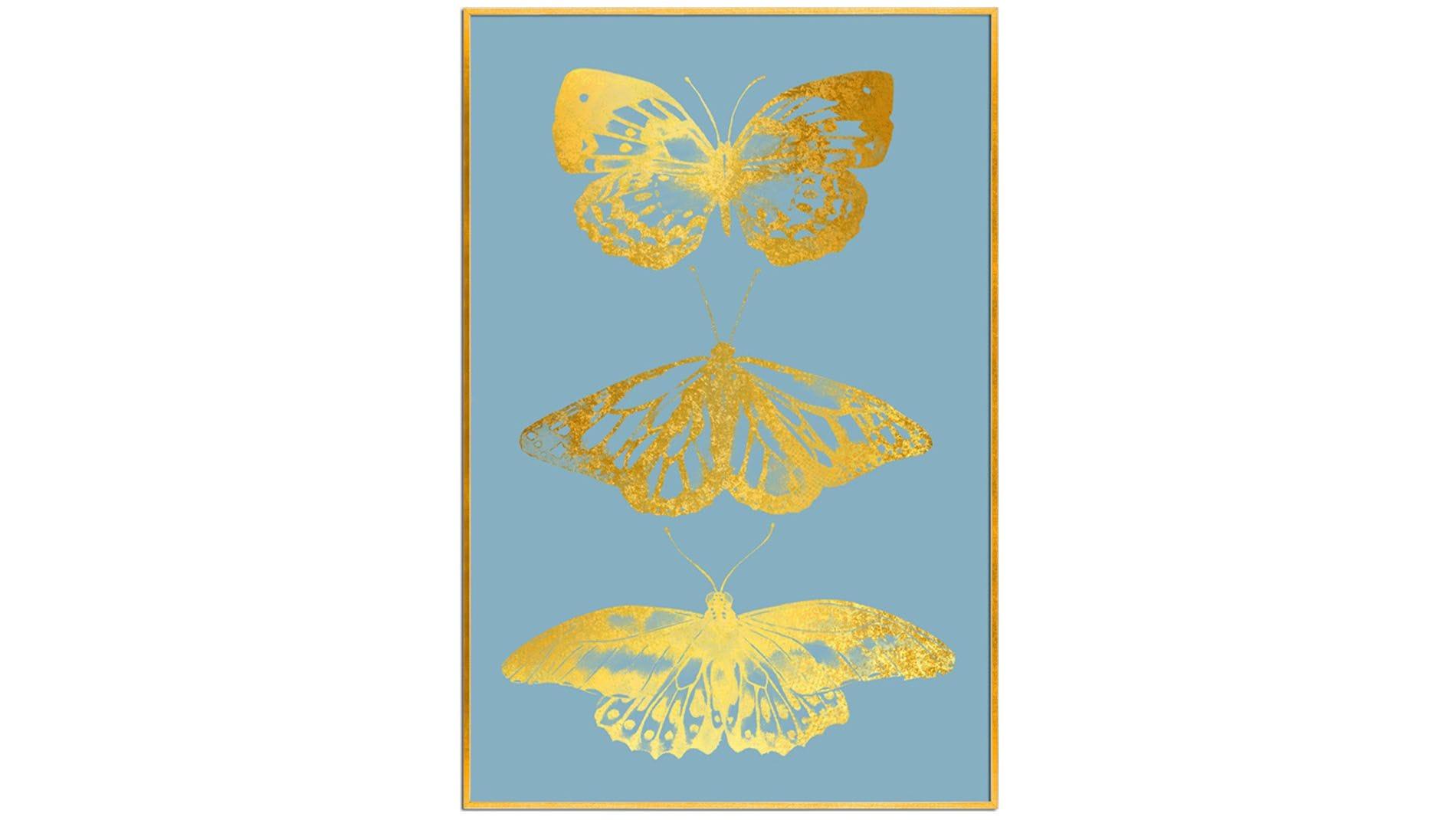 Постер на стену Золотые бабочки 60х80см