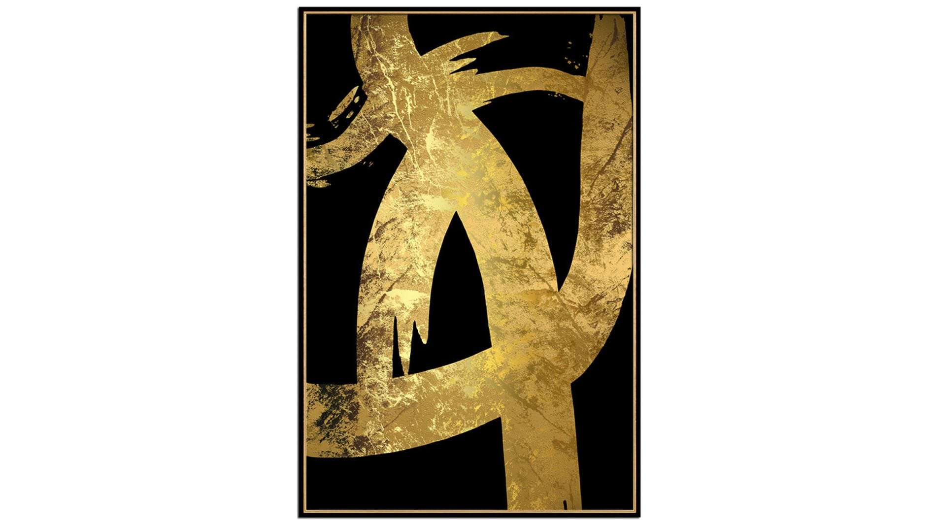 Постер на стену черно-золотая абстракция-1 60х80см