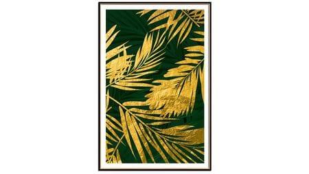 Постер для интерьера золотые листья пальмы-2 60х80 см
