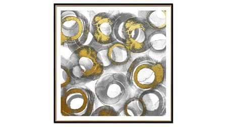 Постер на стену золотые круги 80*80см.