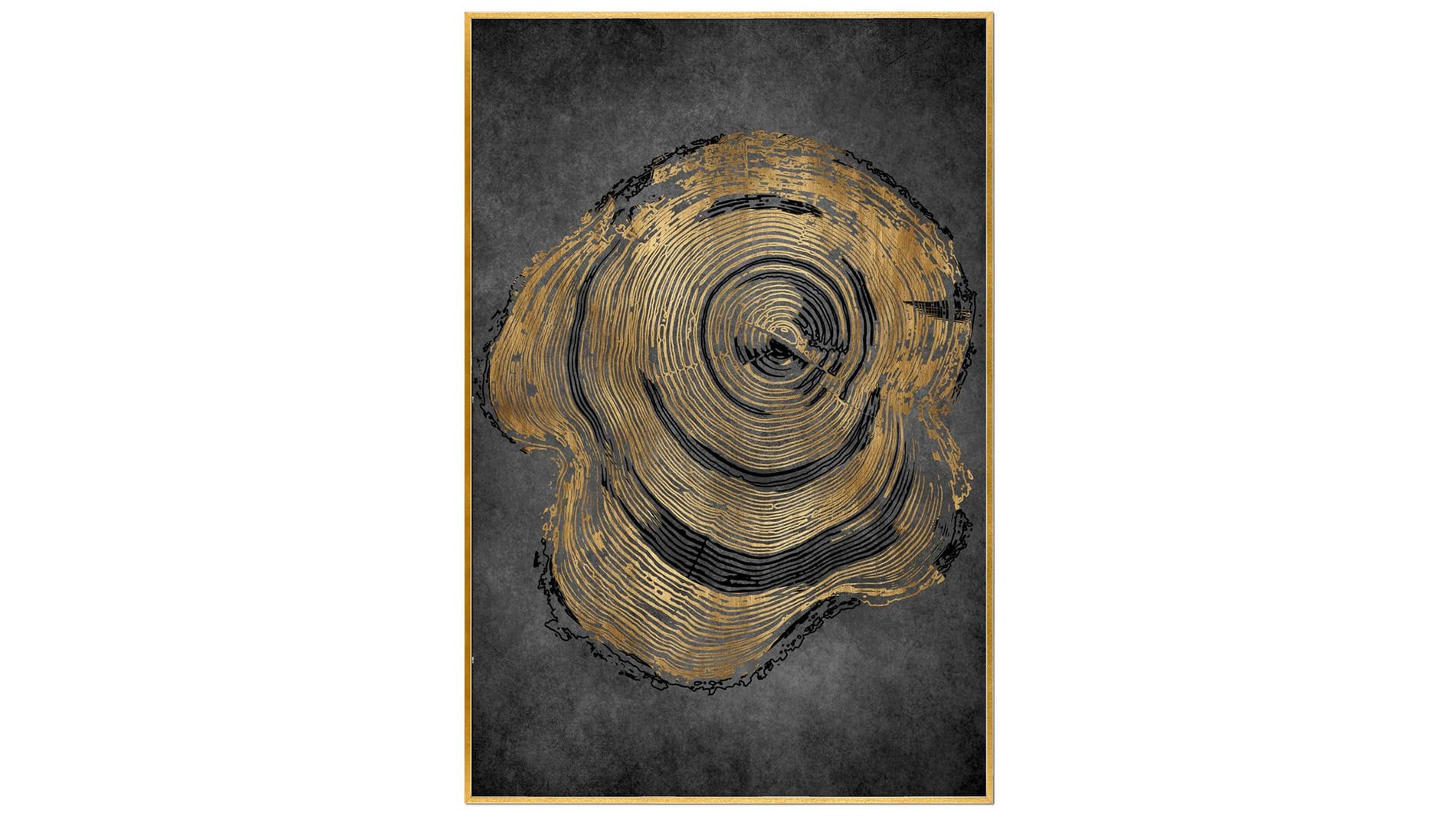 Постер для интерьера кольца дерева 60х80 см