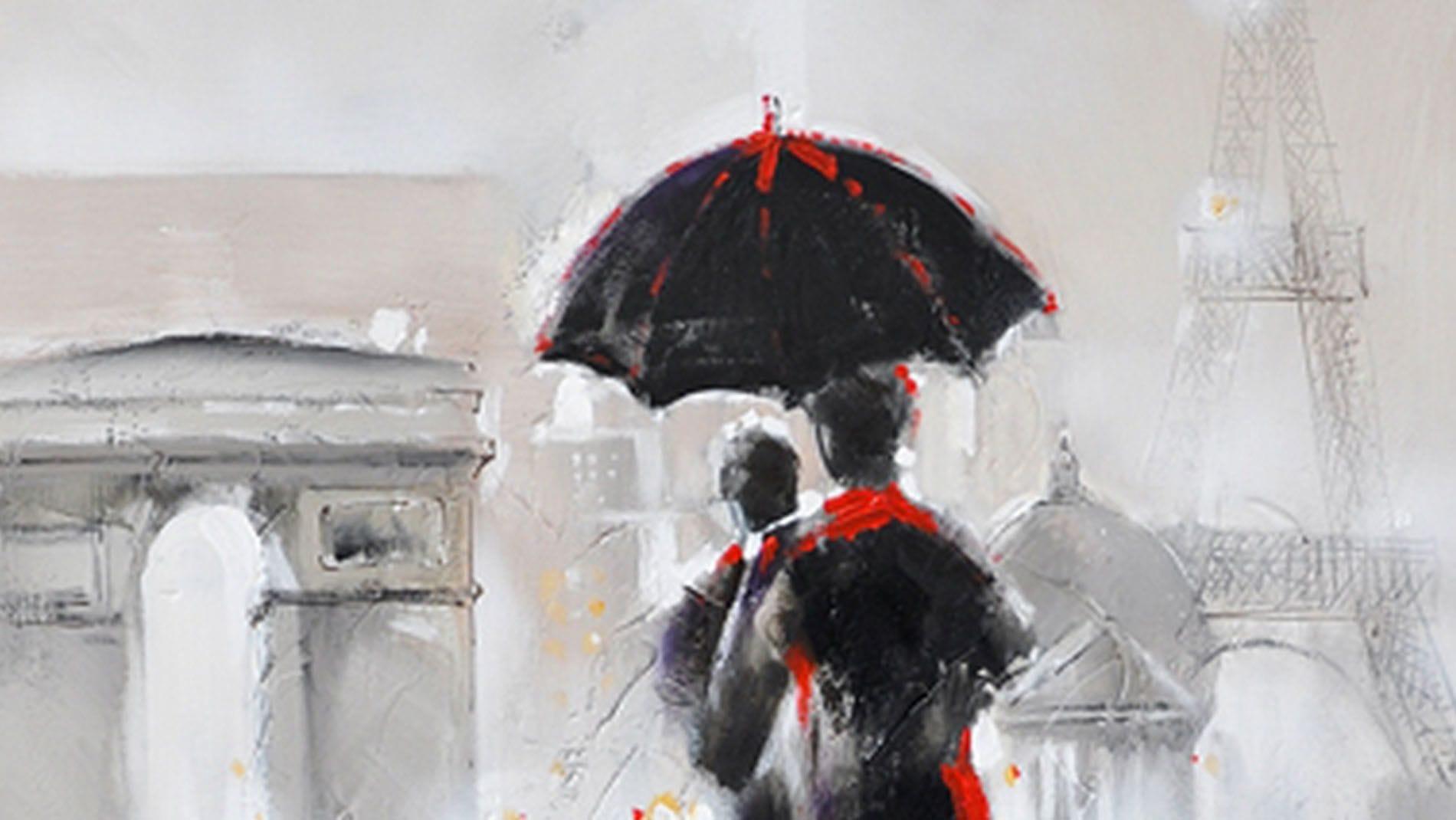 """Картина маслом """" Любовь в Париже """""""